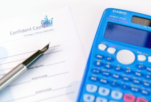 Credit Control Success 0 pen, calculator and application form